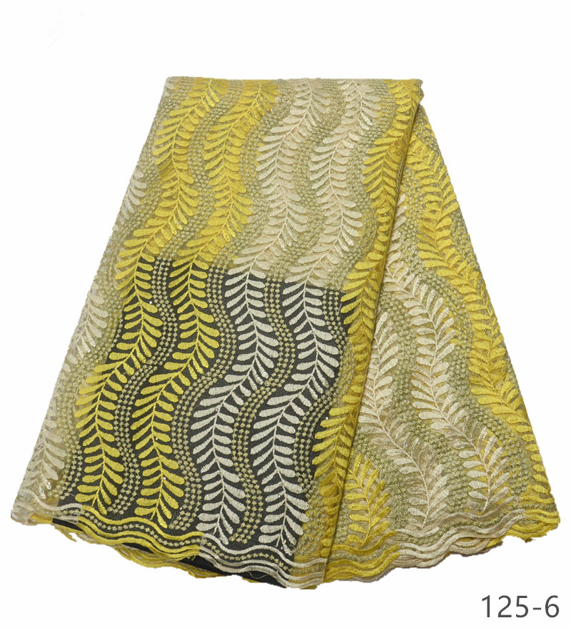 african lace fabrics 5yard yellow guipure lace fabric 2019 high quality african cord lace fabric for wedding dresses 125 in Lace from Home Garden