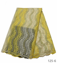 african lace fabrics 5yard yellow guipure fabric 2019 high quality cord for wedding dresses 125