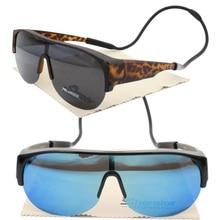 Oversize myopia 045H UV400 polarized outdoor half-rim fit over handy neck hanging fishing s