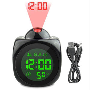Alarm-Clock Bedroom-Lamp Display Night-Lights Temperature Projection Digital-Time Home-Table-Bedsides