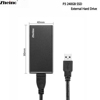 Zheino P3 External msata SSD 120GB 240GB 480GB 128GB 256GB 512GB Hard Disk Drive with External Hard Drive Aluminum Case
