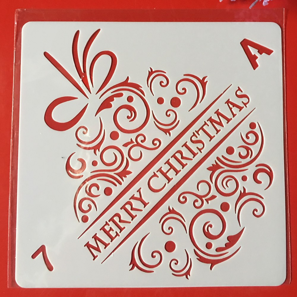 Hot Sale 13cm Christmas Bell DIY Layering Stencils Wall Painting Scrapbook Coloring Embossing Album Decorative Card Template