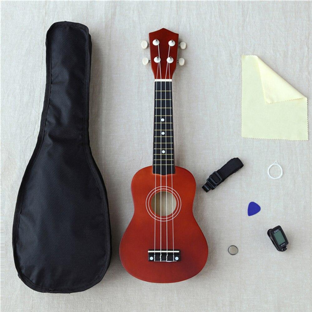 21 дюймов Гавайская гитара с тюнером ремень сумка ткань запасная струна набор крючков для захвата нити Гавайская гитара детская игрушка в сборе для начинающих комплектов