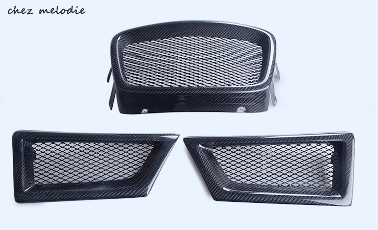 3pcs/set primer unpainted FRP/real carbon fiber car front bumper Grill for Subaru Impreza WRX STI 9 2005-2007 zgpax s5 watch smart phone dual core 1 54 inch capacitive touch screen android 4 0 512mb ram 4g rom 2mp camera with gps silver black