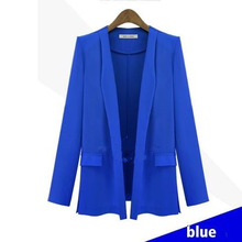 Fashion long-sleeve jackets fashion candy color small suit  2017 Autumn O-Neck High Quality blazer