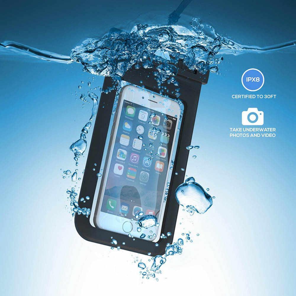 100% Kín Chống Thấm Bag Trường Hợp Pouch Trường Hợp Điện Thoại cho iPhone 7 6 6 s Cộng Với 5 4s Samsung Galaxy S7 s6 S5 S4 cạnh cộng với Điện Thoại Di Động