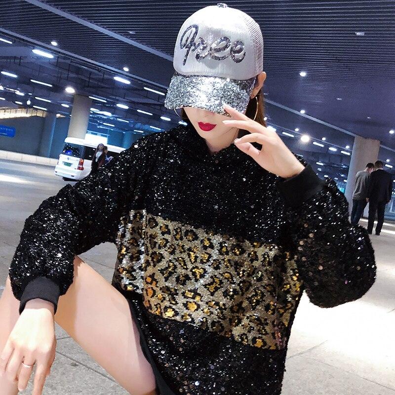 Inverno Maglione Del Maglioni Donne Design Di Lungo Spessore Pullover Top Femminile Cappotto Elegante Leopardo Casual Delle Allentate Nero fPw0qnt