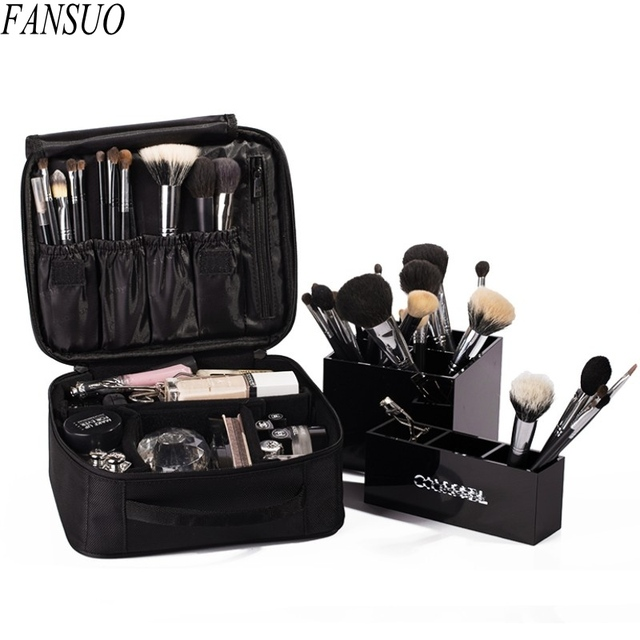 Brand Designers High Quality Travel Waterproof Women Make Up Bag Professional Storage Beautician  Brush Organizer Cosmetic Case