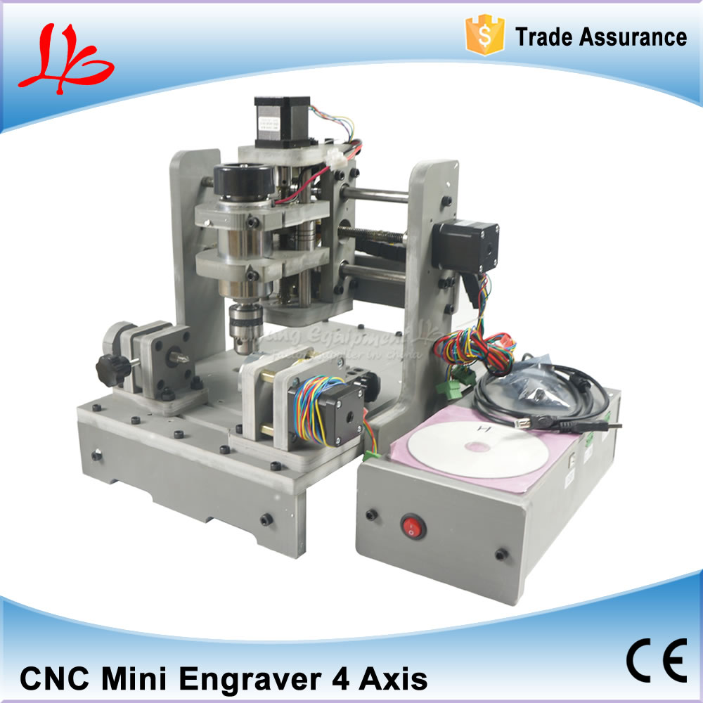 Mini CNC Router Engraver Mach3 Control 4 Axis CNC Milling Machine with 300W Spindle for PCB Drilling and Woodworking cnc 2030 cnc wood router engraver 4 axis mini cnc milling machine with parallel port