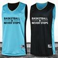Обратимые Баскетбол-Джерси Двухсторонний 2016 Большой Размер M-4XL Установить Высокое Качество Реверсивный Костюм Рубашка На Заказ Равномерный Износ Летом