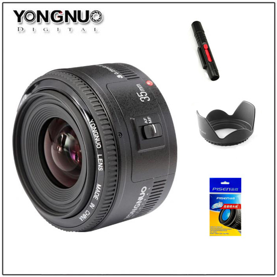 <font><b>Yongnuo</b></font> <font><b>35mm</b></font> Lens YN35mm F2 lens Wide-angle Large Aperture Fixed Auto Focus Lens For canon <font><b>Nikon</b></font> Camera image