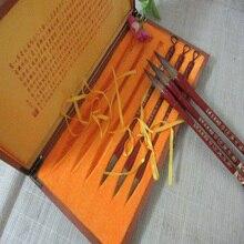 6 шт. Топ Китайская каллиграфия Кисточки Pen Set ласка волос Кисточки для живописи каллиграфии художник Best подарок