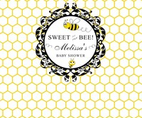 custom bee sweet gender neutral baby shower photography backgrounds High quality Computer print party photo backdrop