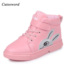 Girls shoes boots children for kids school sports 2018 autumn and winter new girls ankle fashion warm sneakers