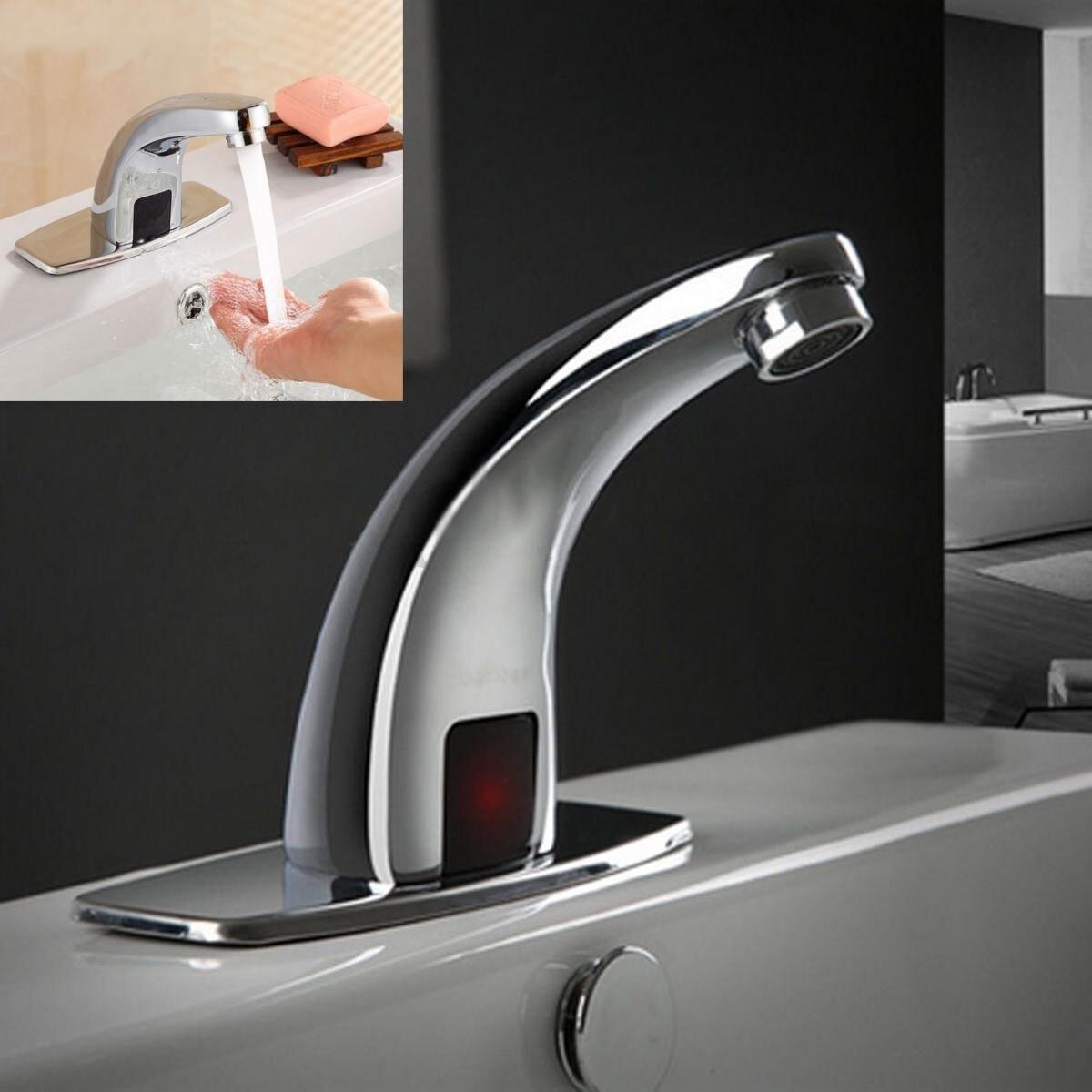 Высокое качество Ванная комната автоматический смеситель G1/2 Сенсор раковина Кухня воды Смесители Хромированный полированной mayitr Фирменн...