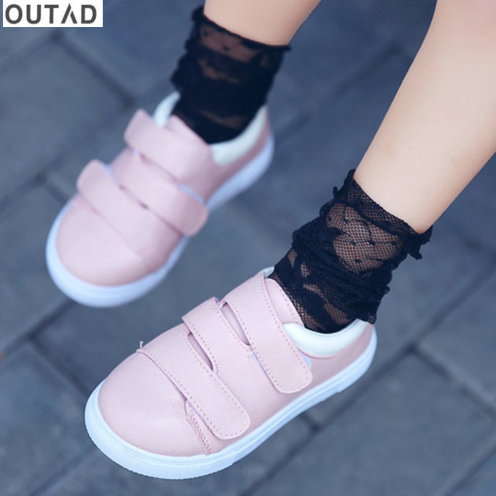 OUTAD New Children Shoes Boys Girls Fashion Casual Low-cut Sneakers Soft Sole Breathable Tennis Anti-slip Gym Sports Shoes
