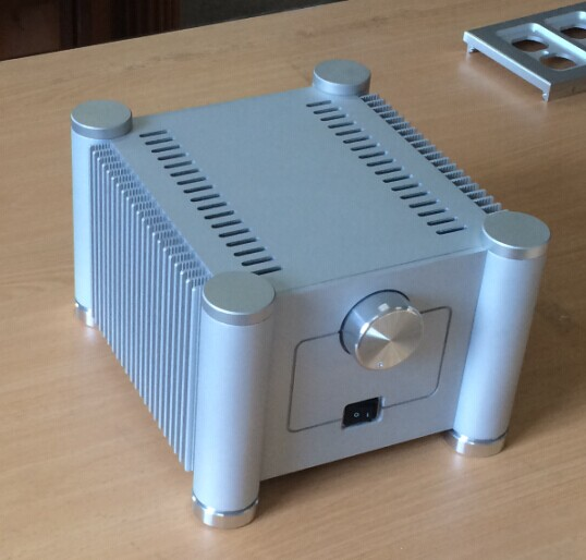 RD2013 white aluminum amplifier chassis/AMP case Enclosure / headphone amp case / PSU Box DIY ( 206*150*242mm)