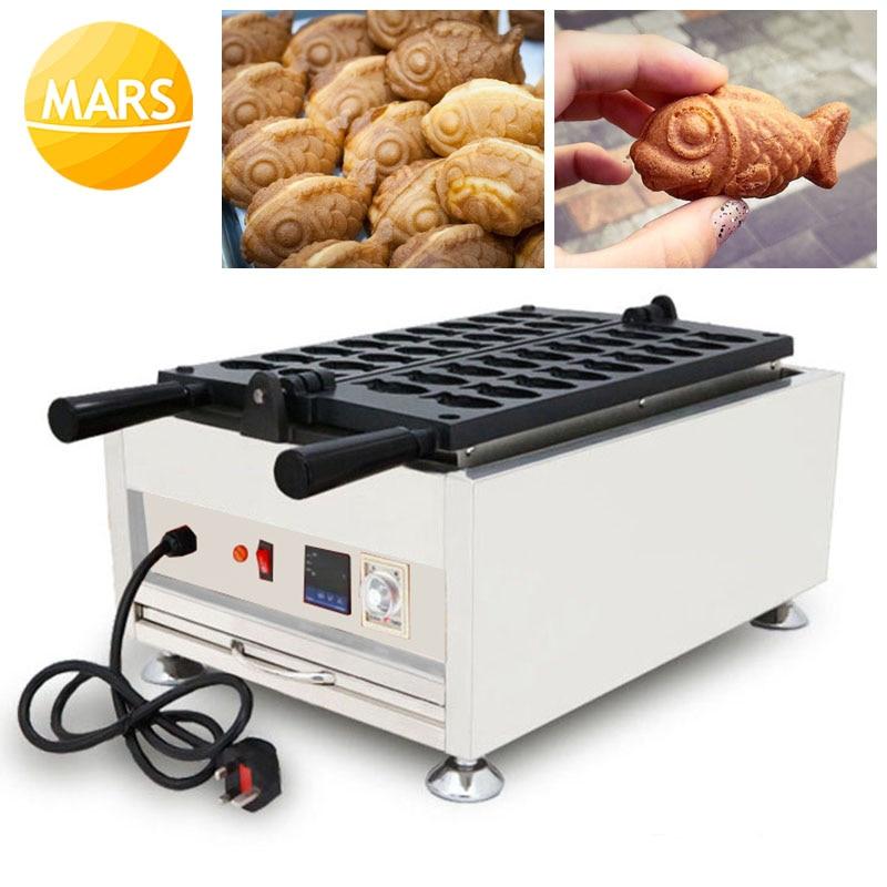 MARS Small Taiyaki Maker Mini Fish Waffles Machine Baker Iron Japanese Fish Shaped Cake Mold Making Pan Equipment
