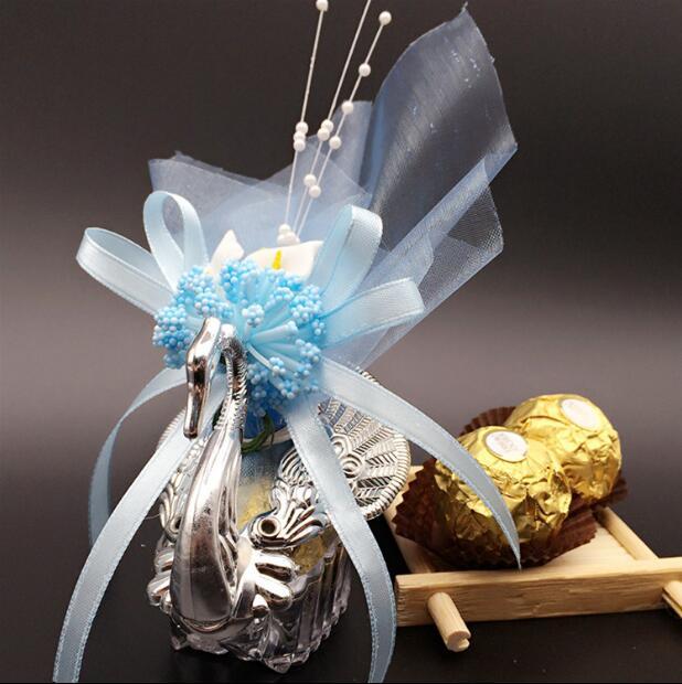20 piezas caja de dulces bolsa de regalo de boda decoraciones de cisne para boda baby shower cumpleaños invitados favores evento Fiesta suministros-in Suministros de envoltorios y bolsas de regalo from Hogar y Mascotas    1
