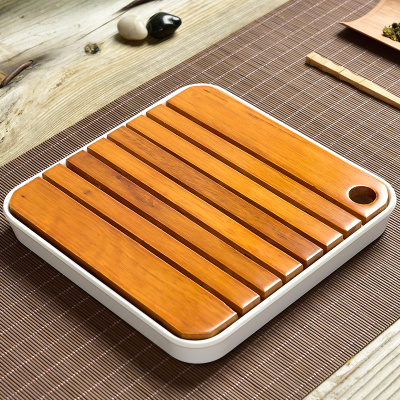 Lacquered Wood Tea Tray