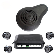 Car Parking Sensors 22mm Parktronics 4 Reverse Backup Radar Human Sound Buzzer Alarm Reversing Radar Detector