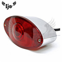 retro silver red lens moto rear lighting indicator scooter accessories motorbike tail light for harley motorcycle brake