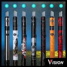 100% O Rigialวิสัยทัศน์บุหรี่อิเล็กทรอนิกส์Vape Nunchakuชุด2000มิลลิแอมป์ชั่วโมง2.0มิลลิลิตรปากกาบุหรี่อิเล็กทรอนิกส์ชุดโลหะแรงดันไฟฟ้าตัวแปรe-บุหรี่