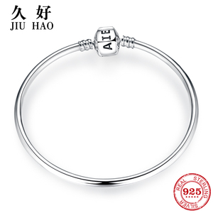 Image 1 - New arrival 100% 925 Sterling Silver Charming Bracelets Charms 2018 Fashion L woman Bracelet Bangles Luxury Jewelry