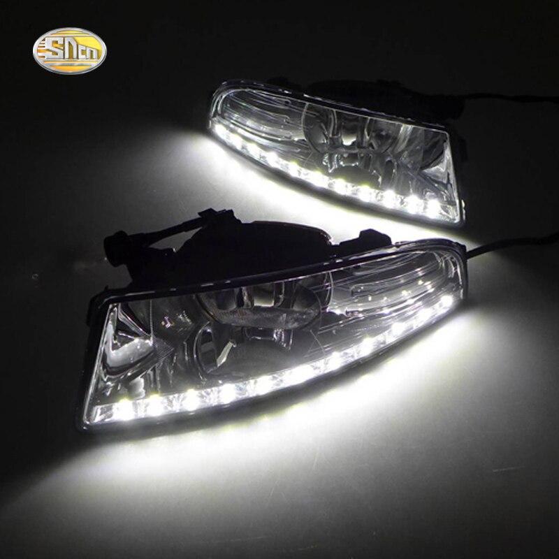SNCN LED Daytime Running Lights for Skoda Octavia A5 2010 2011 2012 2013 Fog lamp house 12V ABS DRL