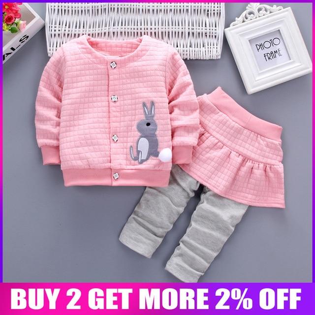 7e0e100ac BibiCola Conjuntos de Roupa Da Menina Do Bebê Roupas de Bebe Menina Da  Criança Outono T