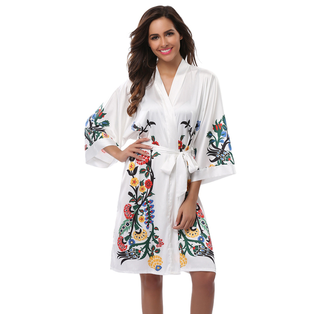 4c36c5184 Mujeres Albornoz kimono Albornoces boda novia dama de honor Albornoces  camisón vestido de mujer pijama Albornoz