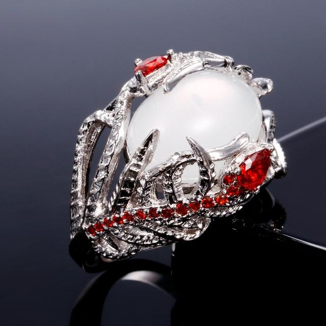 Creative Moonstone Bezel Ring