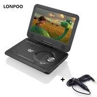 LONPOO DVD Oynatıcı 10.1 Inç Taşınabilir DVD Oynatıcı Araç Şarj Şarj Edilebilir Pil ile USB SD Oyun TV CD DVD Oynatıcı APBAT