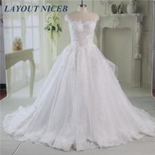 vestido de noiva Ball Gown Wedding Dress Scoop Neck Floor Length robe mariee Real Image Gowns Cap Sleeves Bride