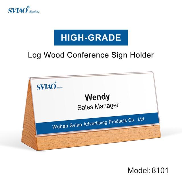 aliexpress com buy triangle double side bending wood acrylic name