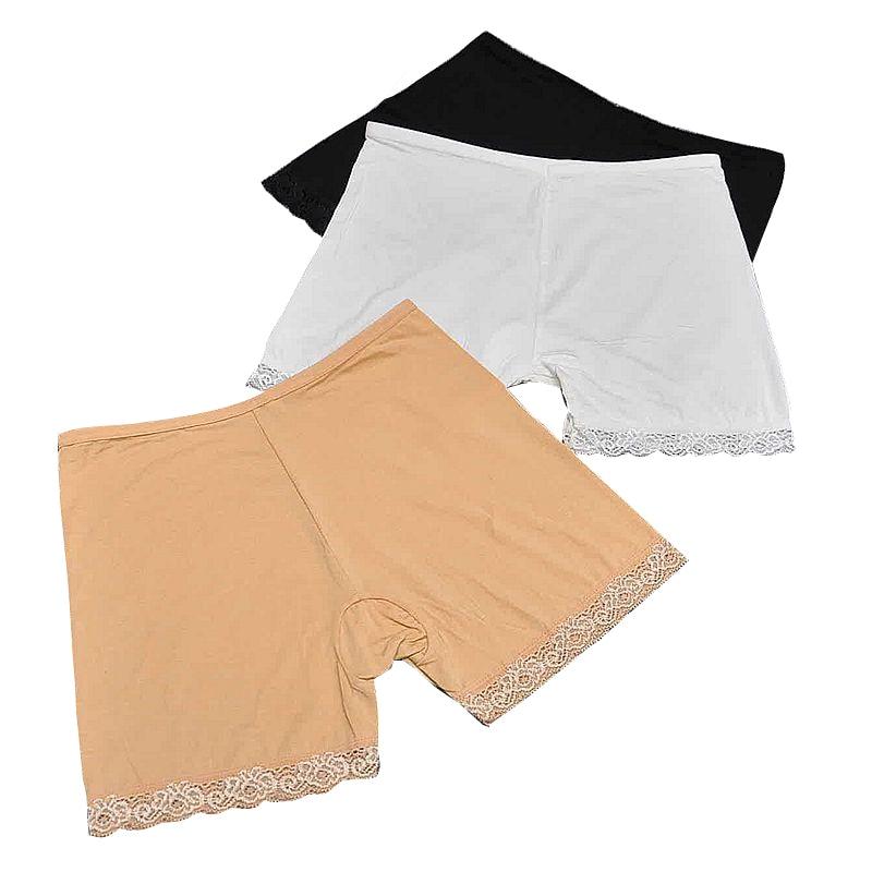 Angemessen 1 Stück 3 Farben Weiß/schwarz/nackte Frauen Nahtlose Spitze Sicherheits Kurze Hosen Heißer Sommer Unterwäsche Shorts Unter Rock Für Frauen Vertrauten Damen-dessous