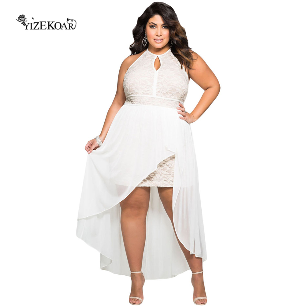 White Plus Size Dresses for Women Special Occasion Promotion-Shop ...
