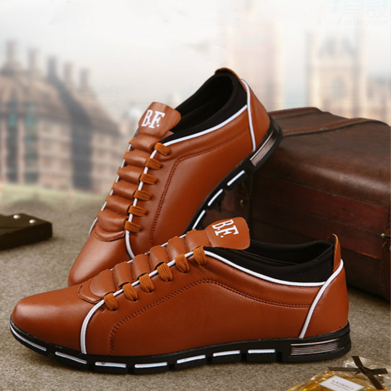 BACKCAMEL Autumn Men Leather Shoes Flat British