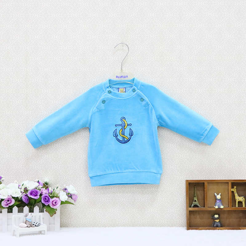 Baby velour double breasted blouse boys and girls autumn and winter clothes kids long sleeve clothing christmas
