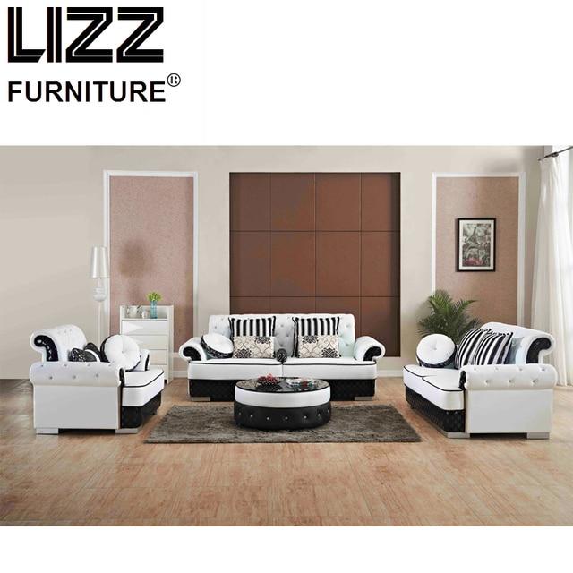 Luxus Möbel Eingestellt Echtem Leder Sofas Für Wohnzimmer Modernes Sofa  Sofa Stuhl Chesterfield