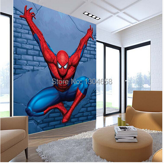 Spiderman Wallpaper For Bedroom: Custom Children Wallpaper, Spiderman Mural For The