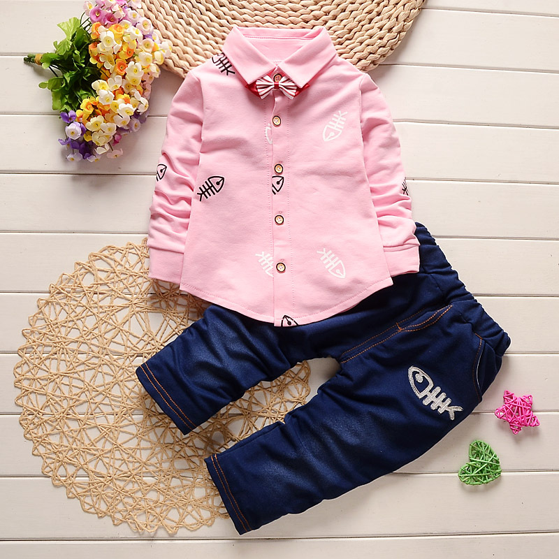 Clearance Baby Boys Autumn Outfit Two-piece Clothes Gentleman Suit Children Clothing Sets 0-4 year Kid Child Spring set For Boy