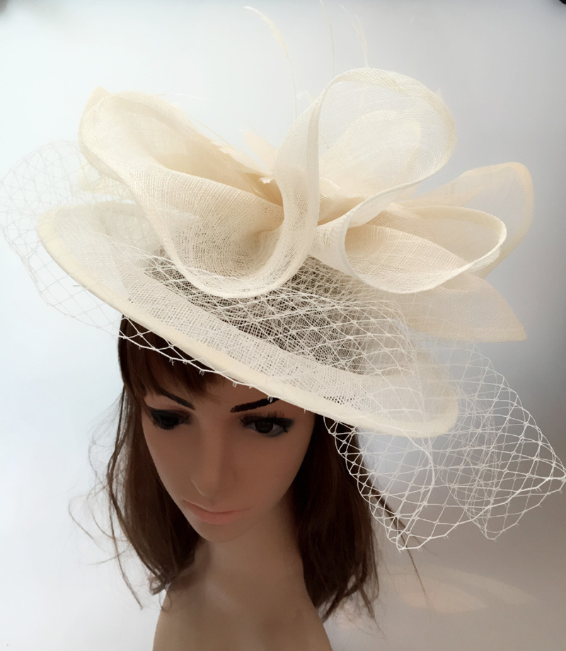 Elegant Multiple Color Sinamay Derby Fascinator Hats Women Party Headpiece Events  Hair Accessory Suit For All Seasons TMYQ112