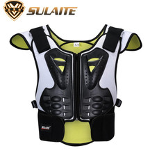 SULAITE Motorcycle Jacket Body Armor Vest Motocross Moto Protective Gear Waistcoat Protector For Children Kids