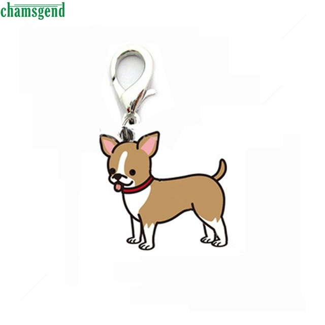 Chamsgend Happy High Quality New Design Cute Metal Brown Dog Tag Disc Disk Pet Id Enamel Accessories Collar Necklace Pendant by Chamsgend