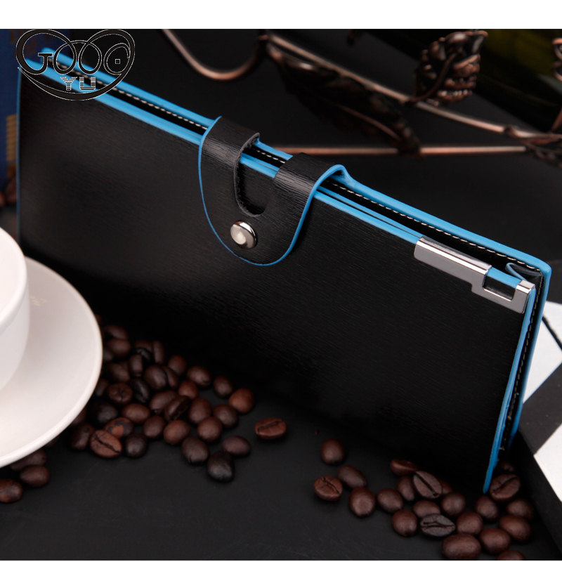 Men wallets multi - function multi - card bit coin purse magnetic buckle wallet large - capacity mobile phone bag coin purse