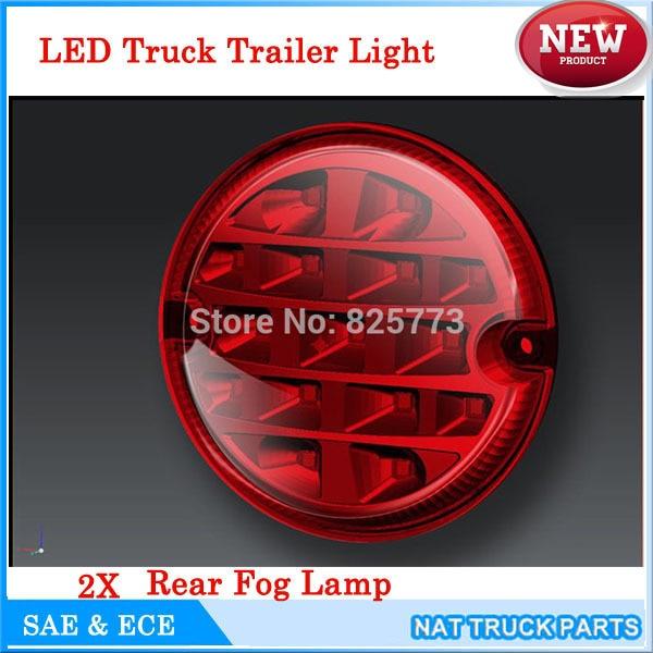 2Pcs 12V / 24V 95MM στρογγυλά LED φώτα ομίχλης - Φώτα αυτοκινήτων - Φωτογραφία 3