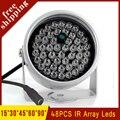 Outdoor Metal Shell Surveillance Cameras 90 degree 48Pcs Infrared IR Led 850nm Night Vision illuminator Lamp Free Shipping