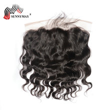 Sunnymay Hair Ear to Ear Lace Frontal Closure 13X4 Body Wave With Baby Hair Pre Plucked Brazilian Human Virgin Hair Frontal стоимость