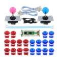 XBERSTAR 2 jugadores Arcade juego DIY Set cero retardo codificador USB para 2 jugadores Arcade botón Joystick controlador